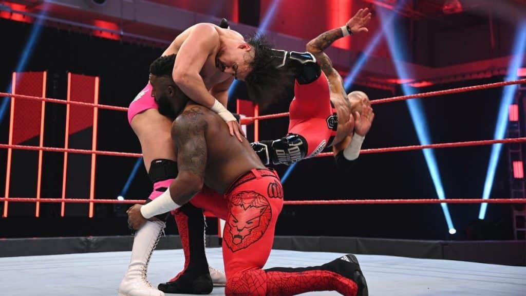 Cedric Alexander and Ricochet take down Angel Garza