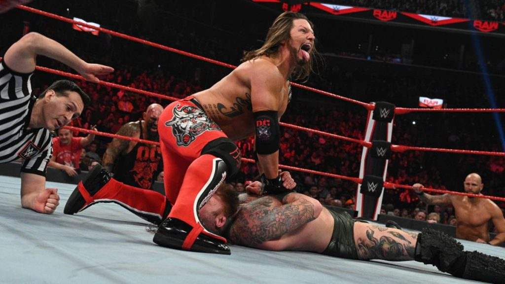 AJ Styles pins Ricochet, Undertaker style