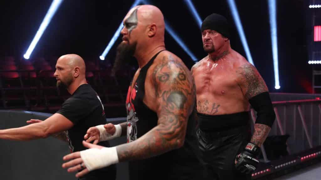 The Undertaker behind Gallows and Anderson