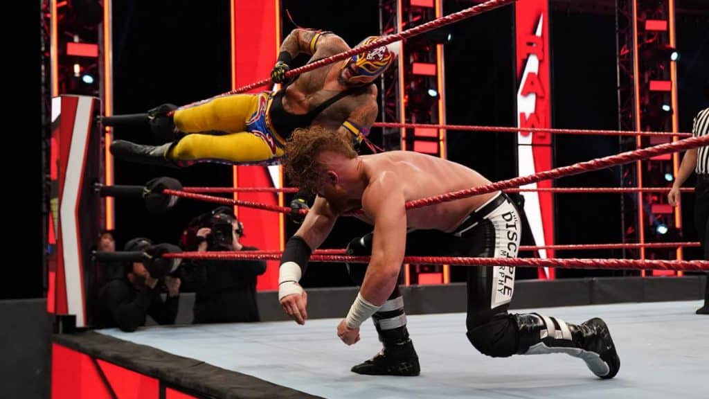 Rey Mysterio delivers a 619 to Murphy