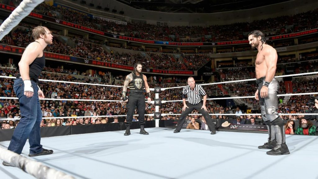 Roman Reigns Seth Rollins and Dean Ambrose