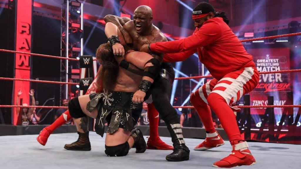 Lashley vs Drew brawl