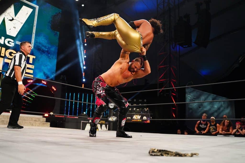 Lance Archer hits a huge chokeslam