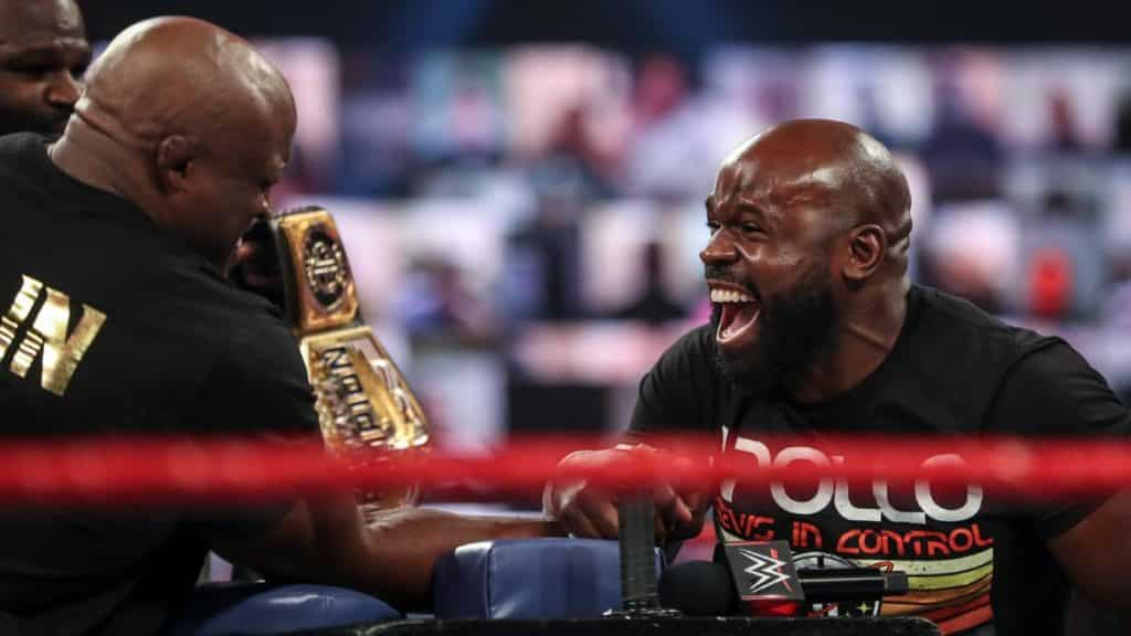 Apollo Crews beat Bobby Lashley at arm-wrestling