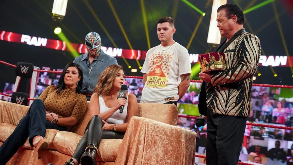 The Mysterio family on King's Court