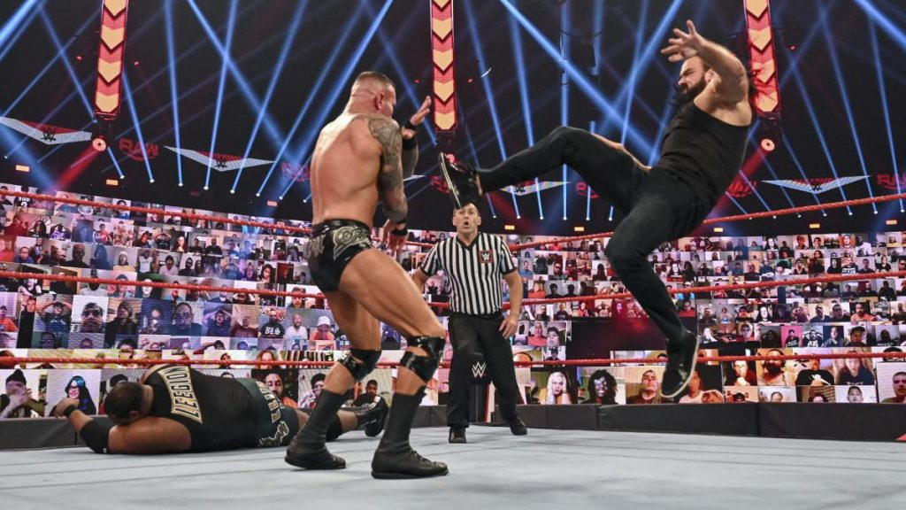 Drew McIntyre Claymore's Randy Orton and gets Keith Lee disqualified