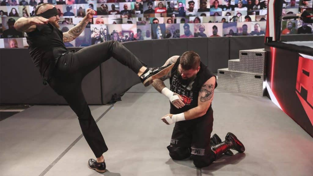 Aleister Black takes out Kevin Owens
