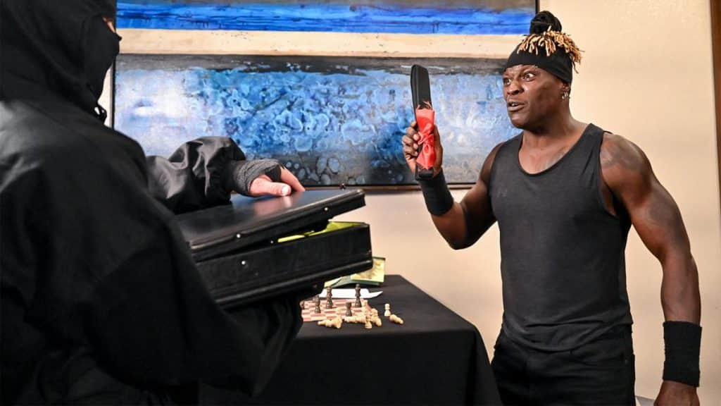 R-Truth gets a surprise gift from a Ninja