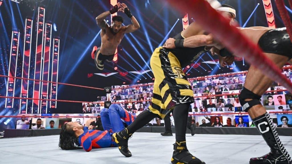 Street Profits versus Cesaro, and Shinsuke Nakamura