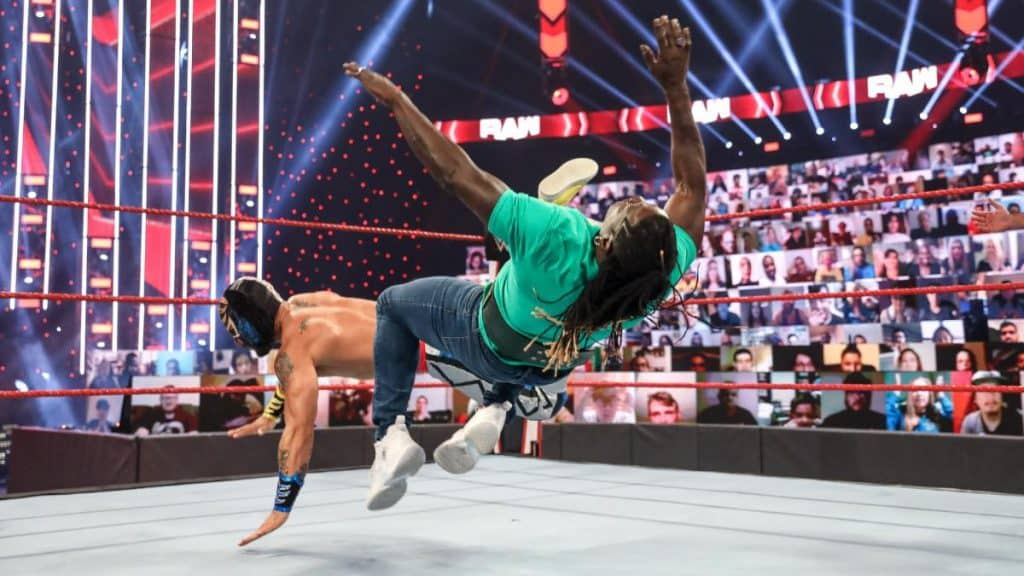 R-Truth gets caught up in the tag match