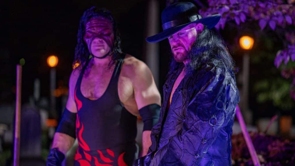 Taker and Kane BTS