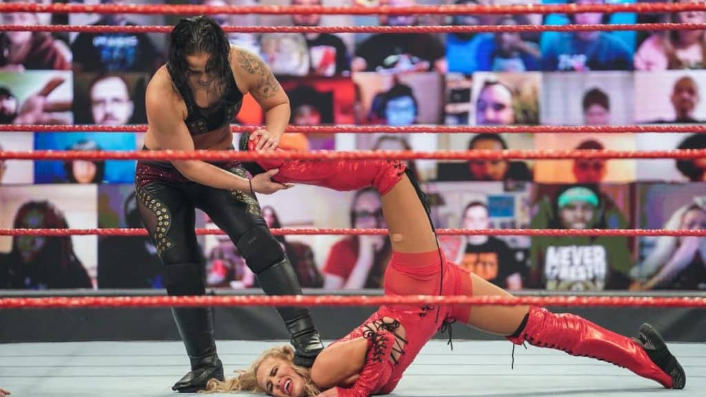 Shayna Baszler stretches Lana