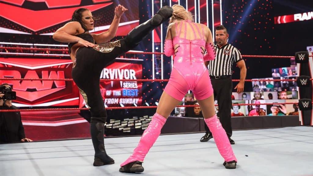 Shayna Baszler kicks Lana in the head
