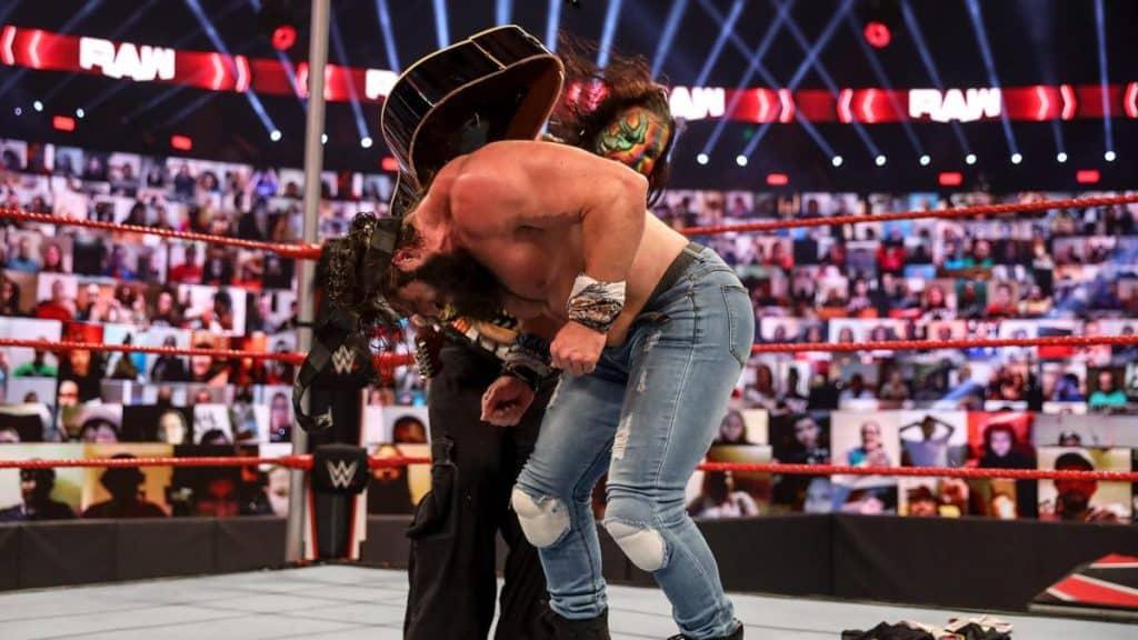 Jeff Hardy hits Elias with a guitar