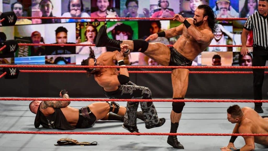 Drew McIntyre interrupts Miz, Morrison, and Orton