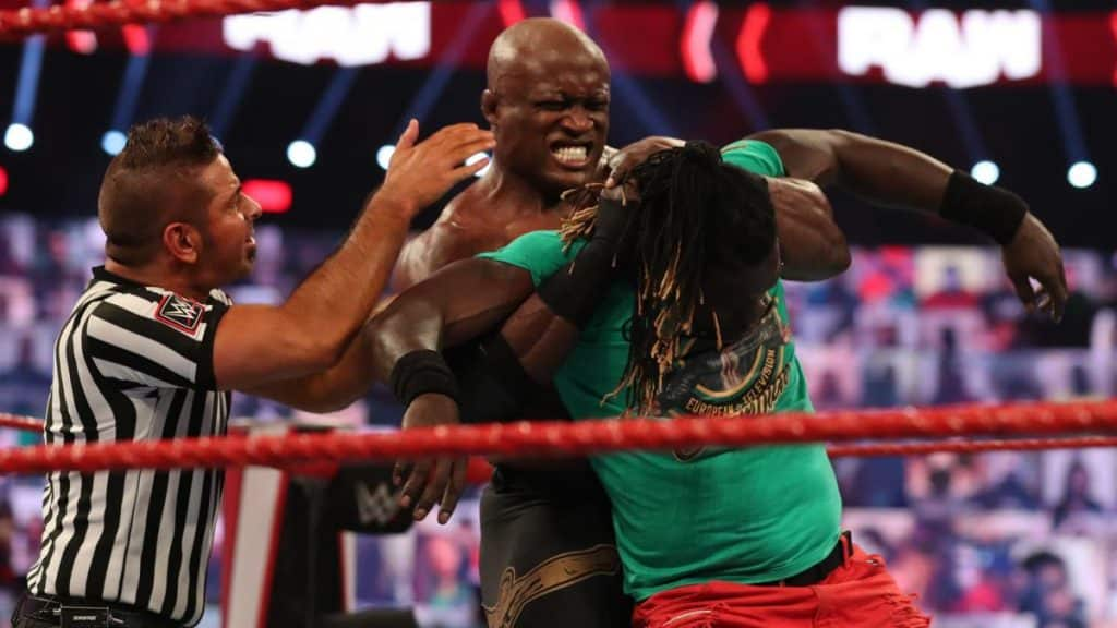 Bobby Lashley puts R-Truth to sleep with the Hurt Lock