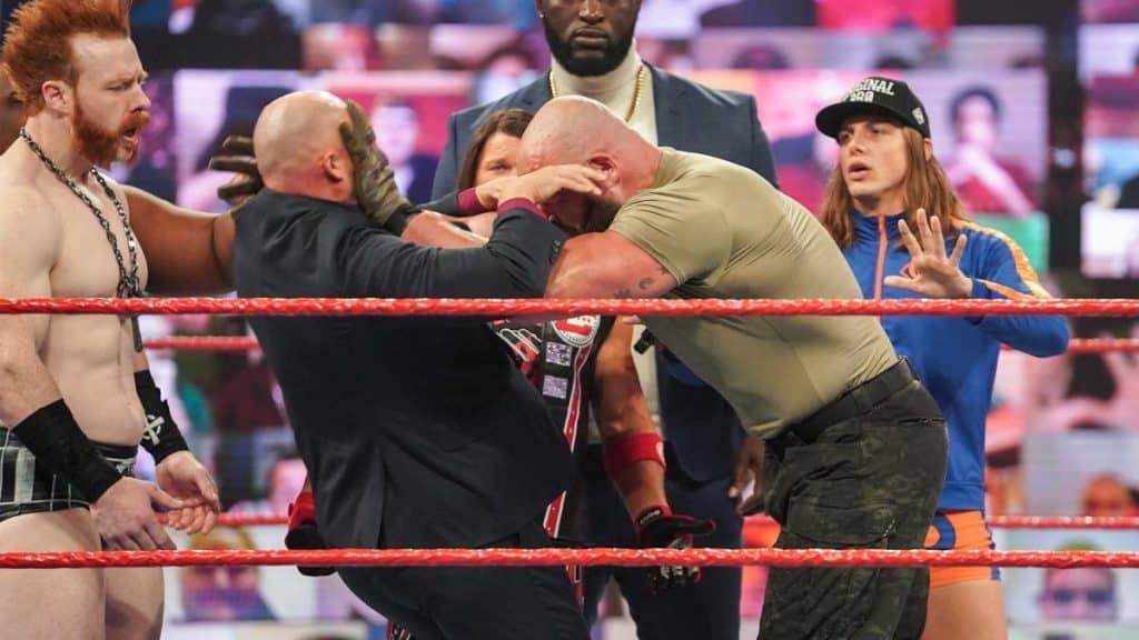 Braun Strowman attacks Adam Pearce