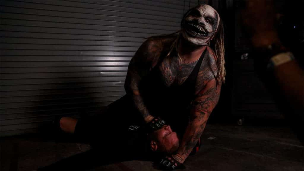 The Fiend puts Randy Orton to sleep with the manible claw