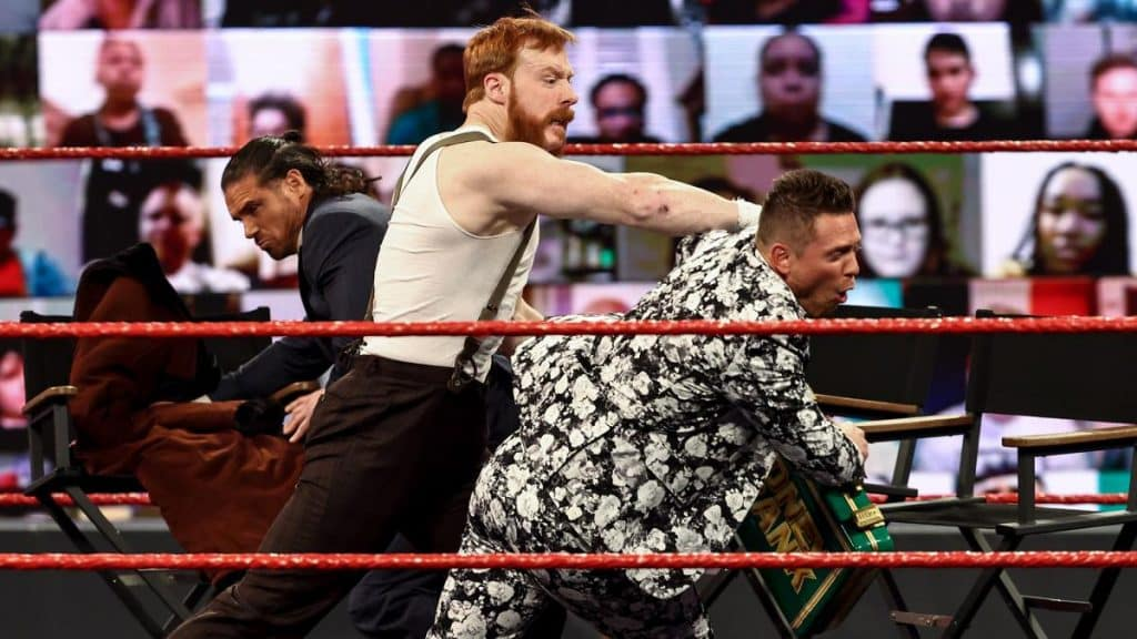 Sheamus punches Miz