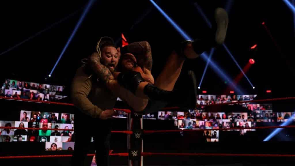 Randy Orton RKO's Bray Wyatt in the dark