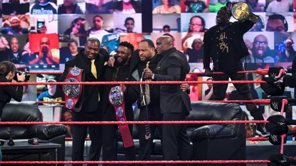 R-Truth photobombs The Hurt Business