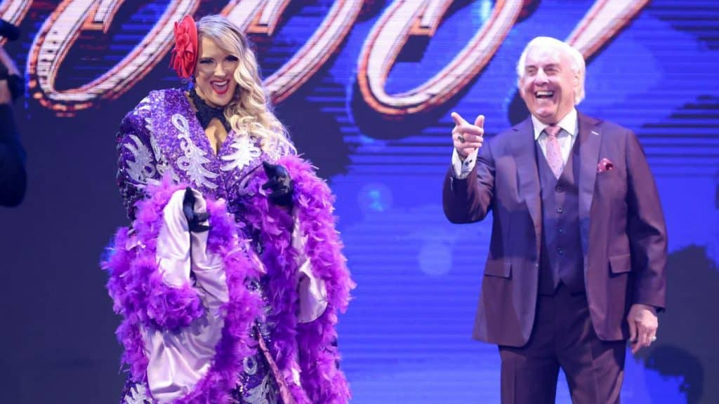 Lacey Evans and Ric Flair