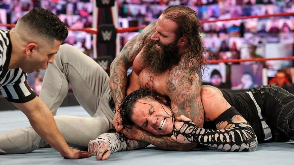 Jaxson Ryker with Jeff Hardy in a headlock