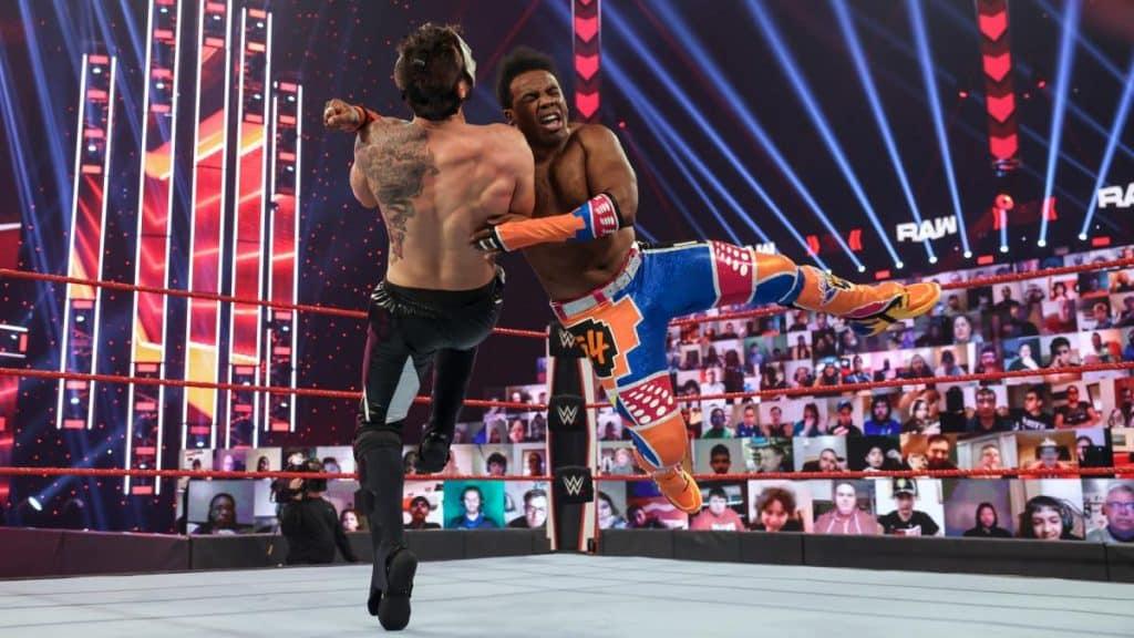 Xavier Woods takes down SlapJack