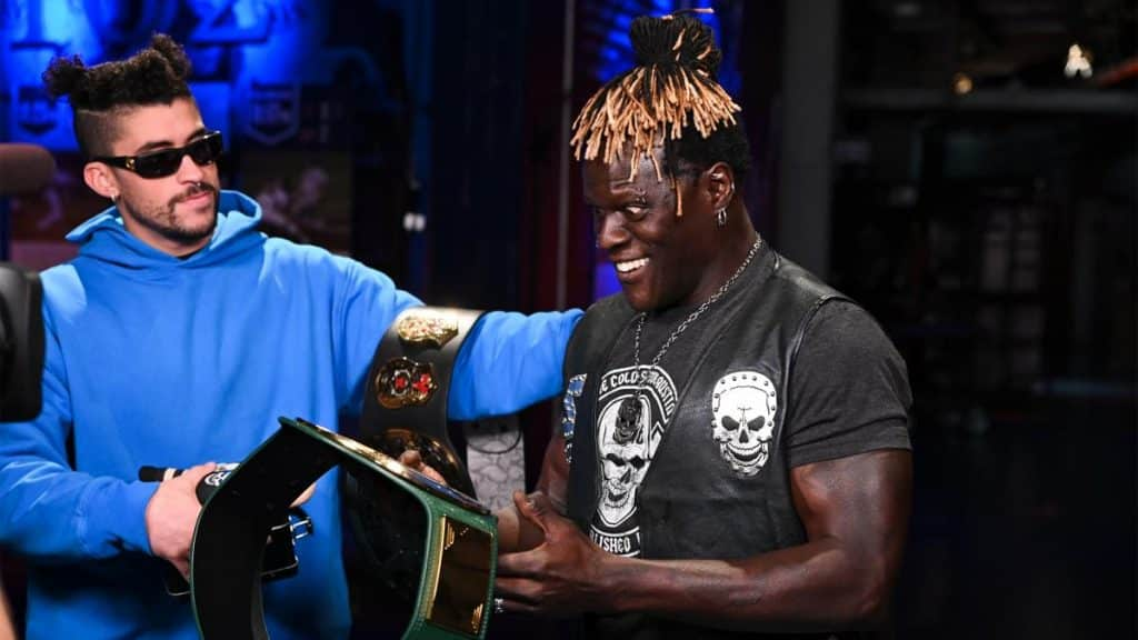 Bad Bunny gives R-Truth his baby back