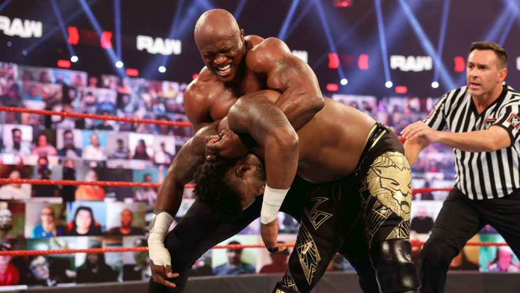 Bobby Lashley makes Cedric Alexander go to sleep