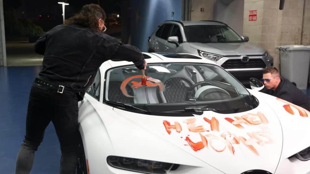 The Miz and John Morrison vandalise Bad Bunny's car