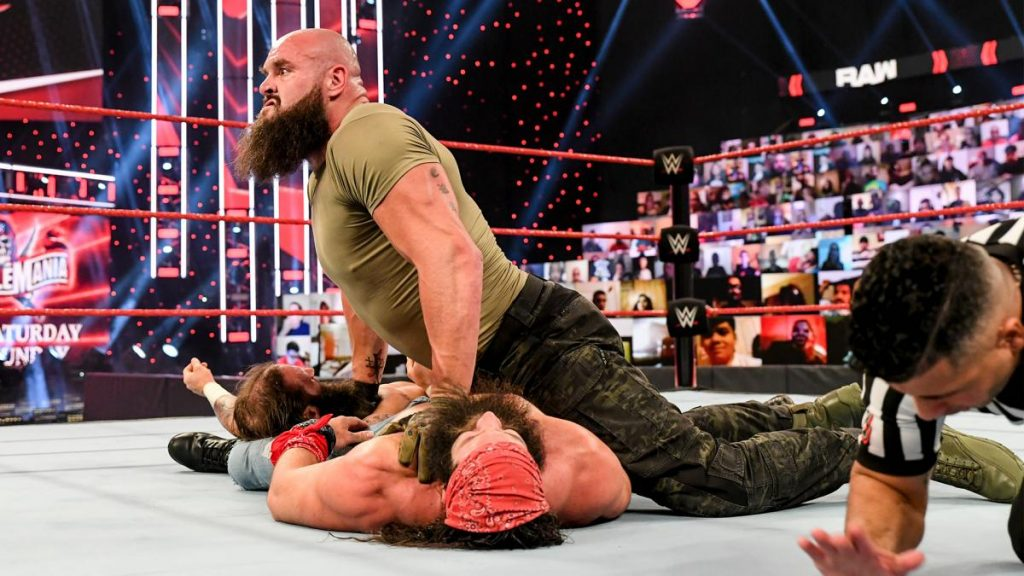 Braun Strowman pins Elias and Jaxson Ryker
