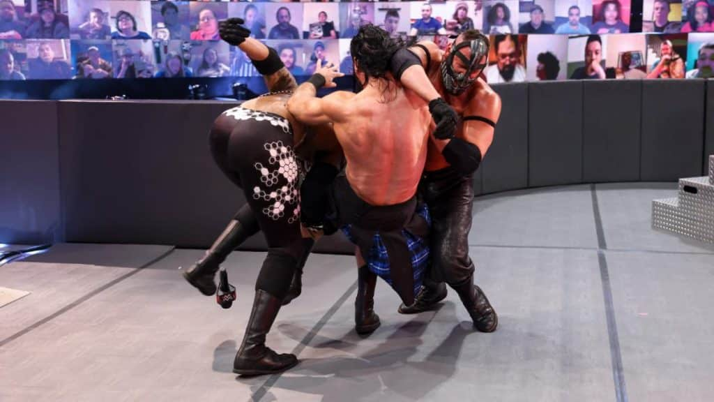 T-BAR and MACE attack Drew McIntyre