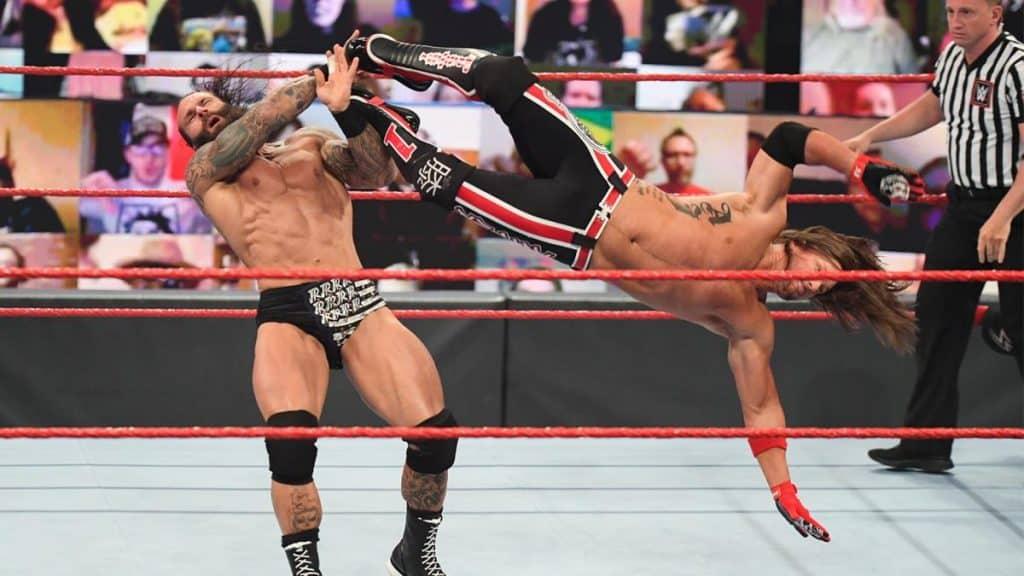 AJ Styles dropkicks Jaxson Ryker