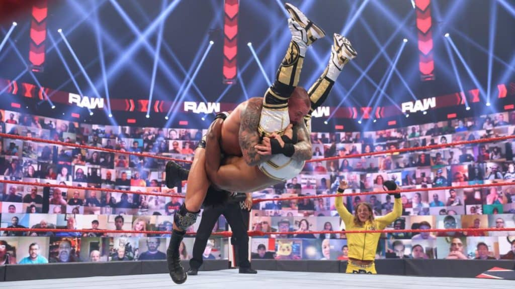 Randy Orton delivers Bre Derek to Xavier Woods