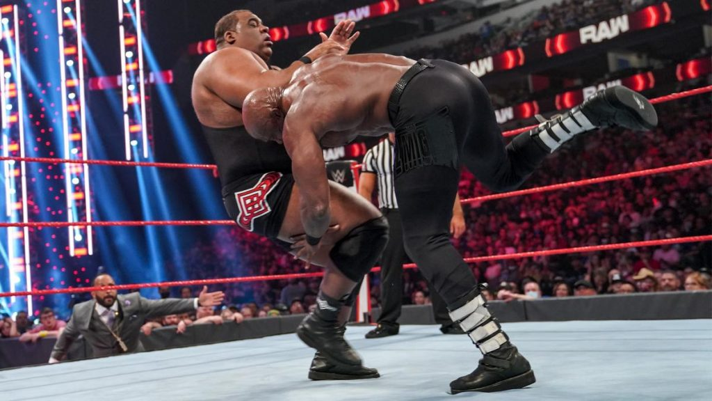 Keith Lee gets speared by Bobby Lashley