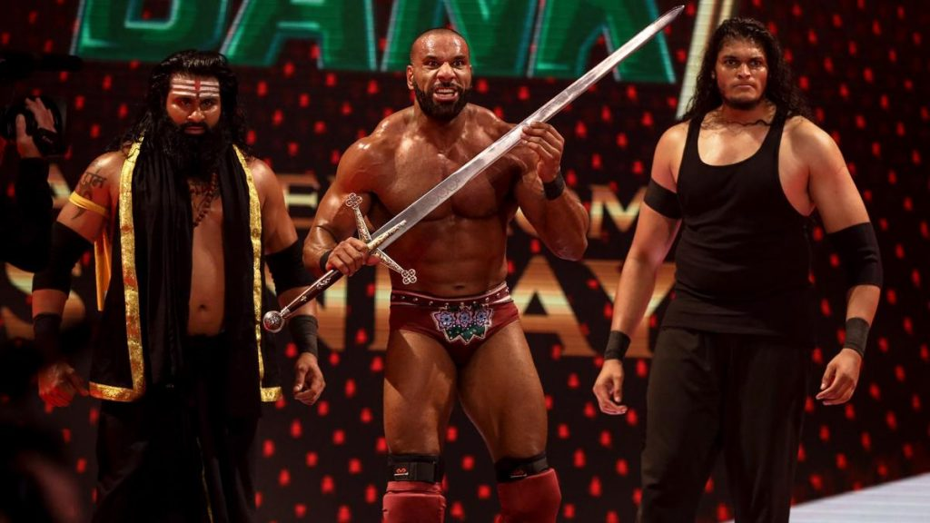 Jinder Mahal with Veer and Shanky