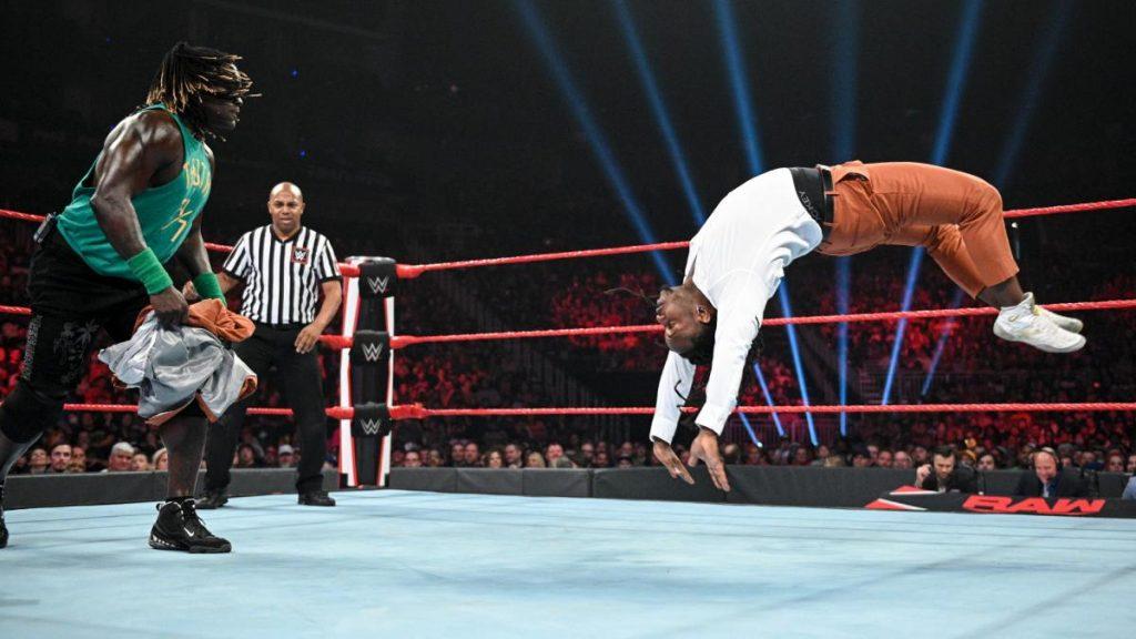 Reginald flipping towards R-Truth