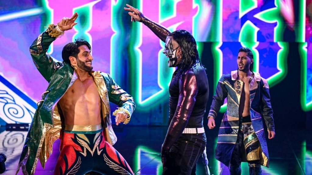 Mansoor, Jeff Hardy, and Mustafa Ali