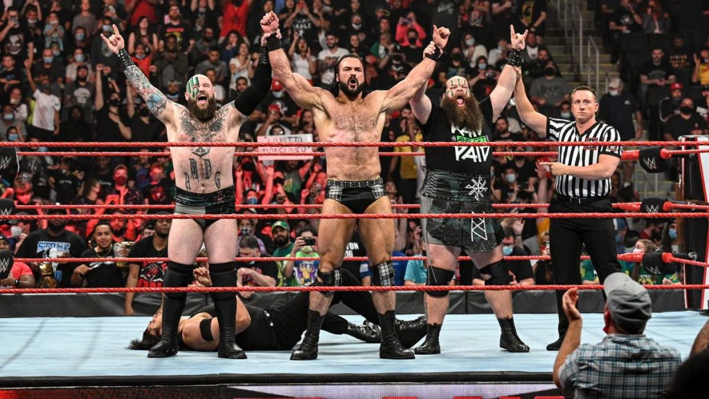 Drew McIntyre and The Viking Raiders stand victorious
