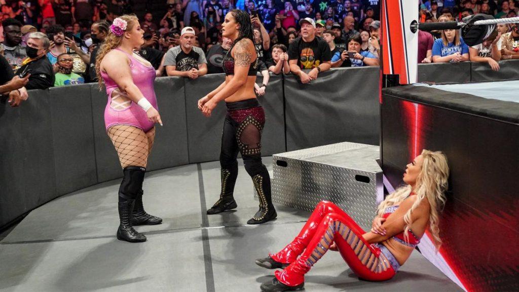 Doudrop saves Dana Brooke from Shayna Baszler