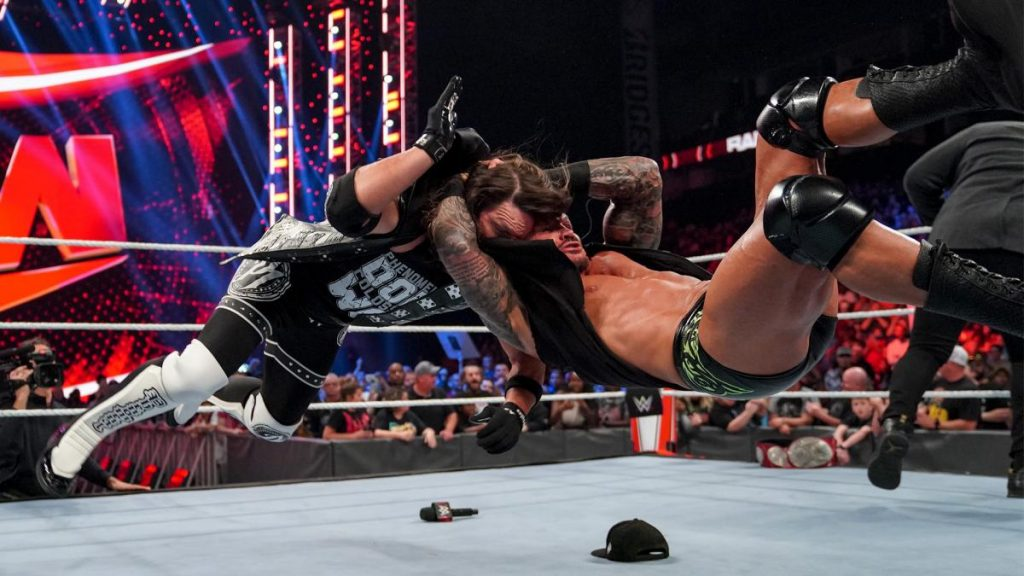 Randy Orton RKOs AJ Styles